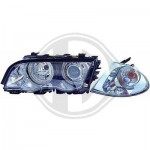 Phare  cristal chrome + clignotant bmw e46