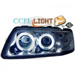 Phares design chrome angel eyes Audi A3