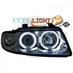 Phares design chrome angel eyes Audi a4