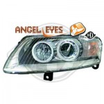 Phares angel eyes chrome Audi A6