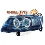 Phares design angel eyes noir Audi A6