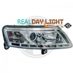 Phares design Audi A6 chrome Dragon lights