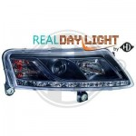Phares design dragon lights noir Audi A6