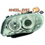 Phares design angel eyes chrome BMW Série 1 E87