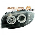Phares design Angel Eyes noir BMW série 1 E87
