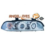 Phares design chrome BMW série 5 E39 Angel Eyes