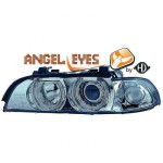 Phares design angel eyes chrome BMW Série 5 E39